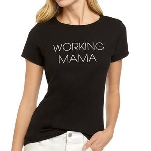 New Working Mama Graphic T-Shirt Black The Limited